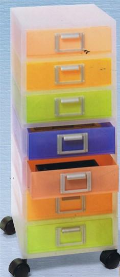 Cassettiere Plastica Con Ruote.Cassettiera A 7 Cassetti Jolly Con Ruote Punto Ufficio Store